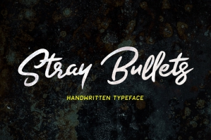 Stray-Bullets-Handwritten-Typeface-cover