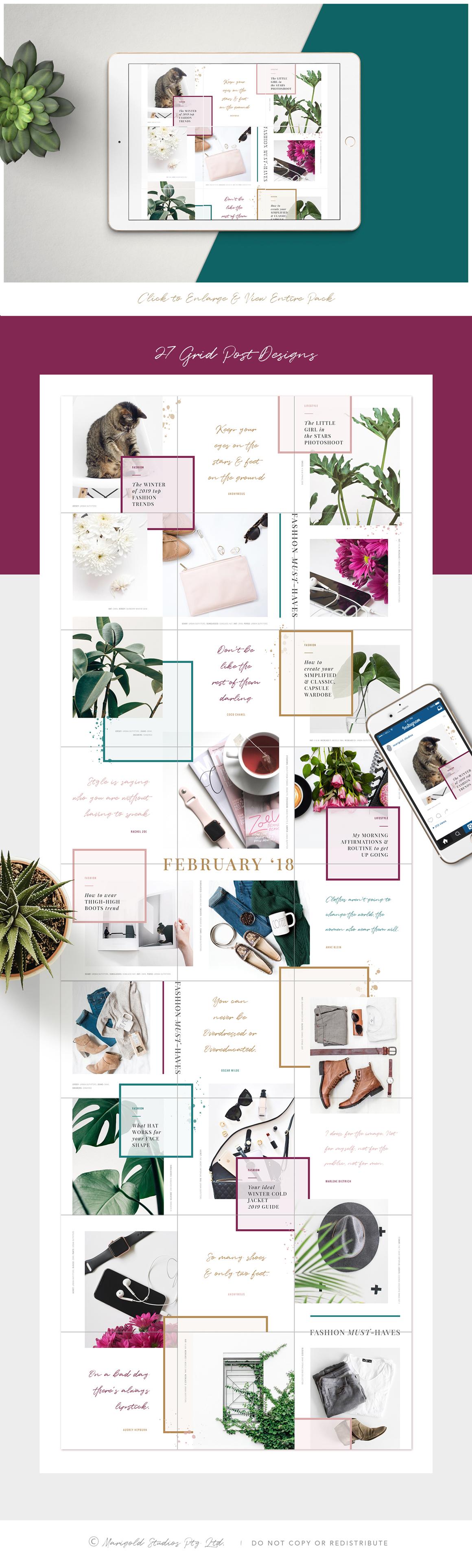 The Grid Instagram Layout Template