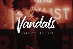 Vandals-Handstylish-Font-cover
