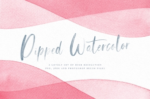 Watercolour Dip Dye Backgrounds