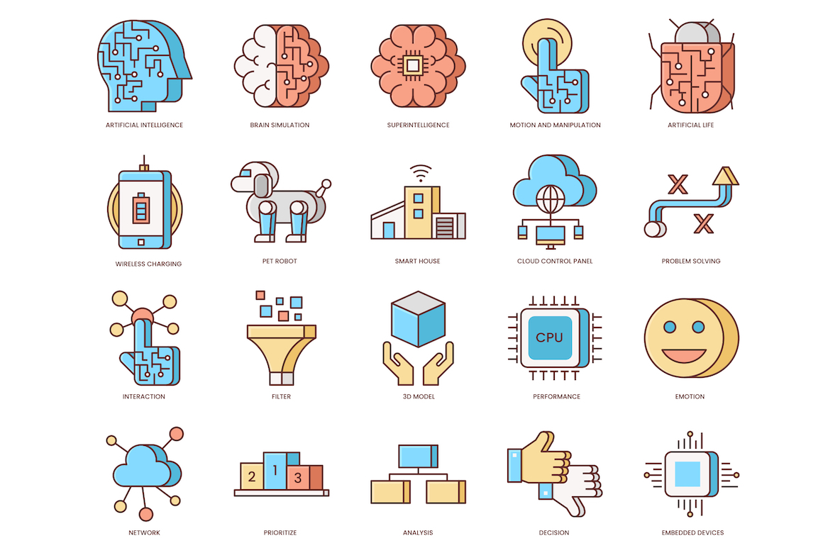 60 Artificial Intelligence Icons