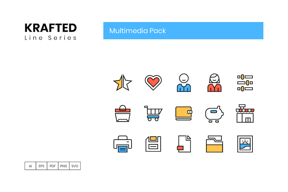 65 Multimedia Icons