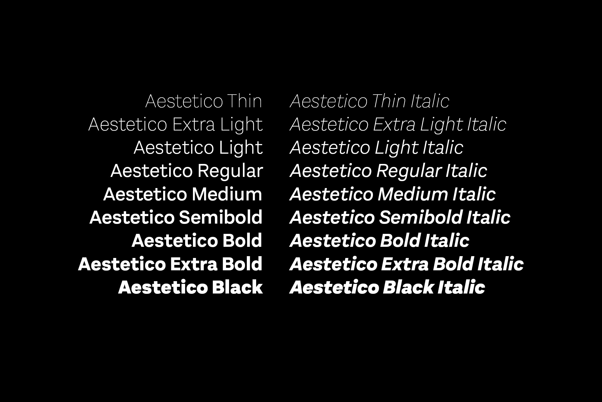 Aestetico: A Modern Take On A Classic Sans Serif  Aestetico Font by Latinotype Aestetico strip7