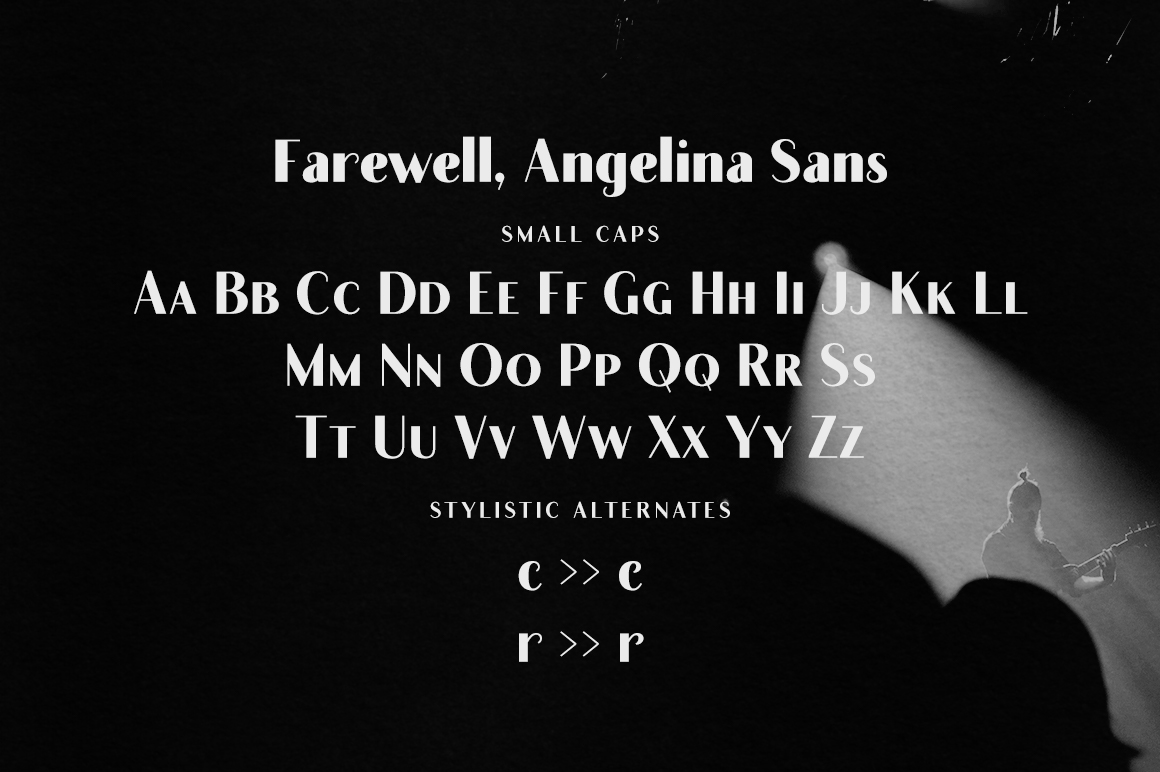 Farewell Angelina Sans Display Font