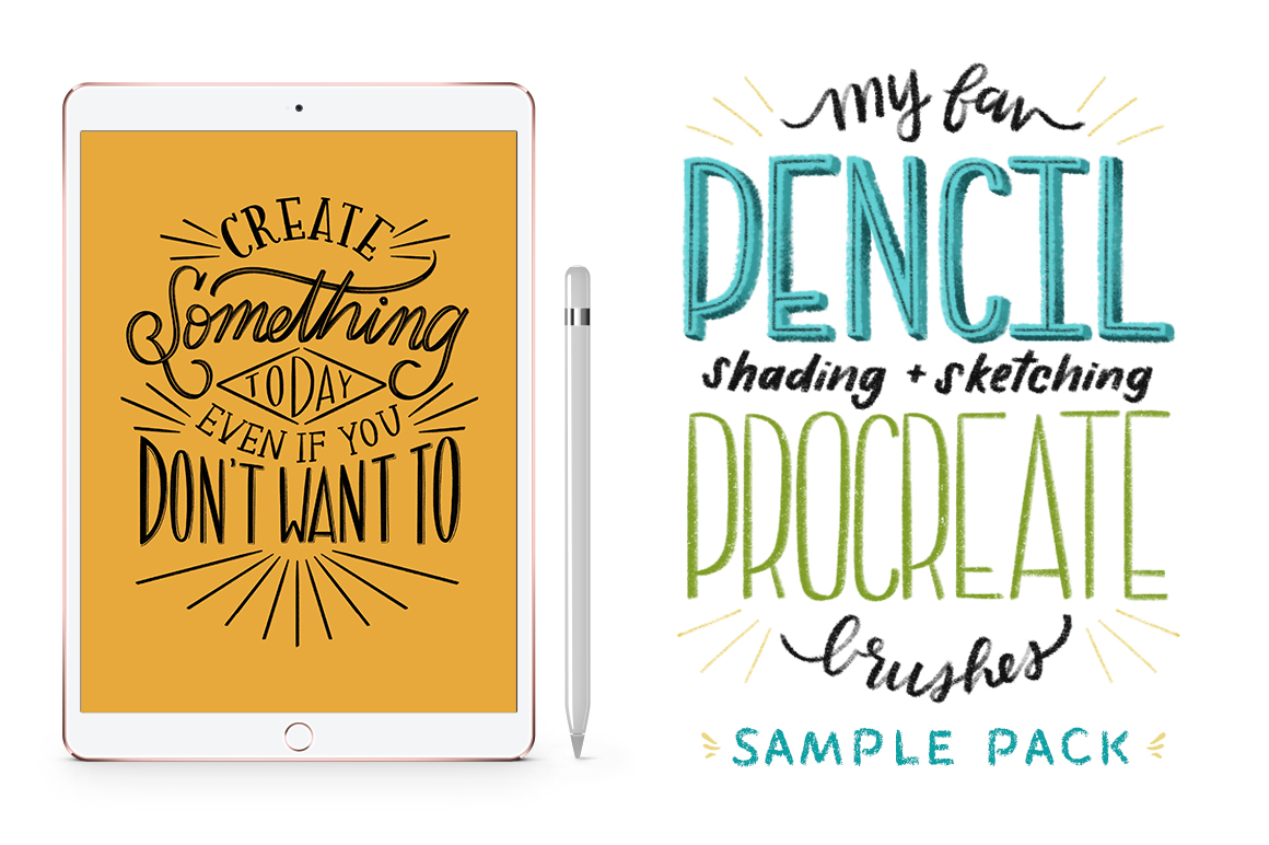HOMwork Freebie: Favourite Pencil Procreate Brush Pack