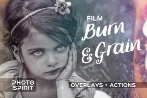 Film Burn and Grain Overlay Effect and Actions