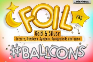 Foil Balloons Overlays
