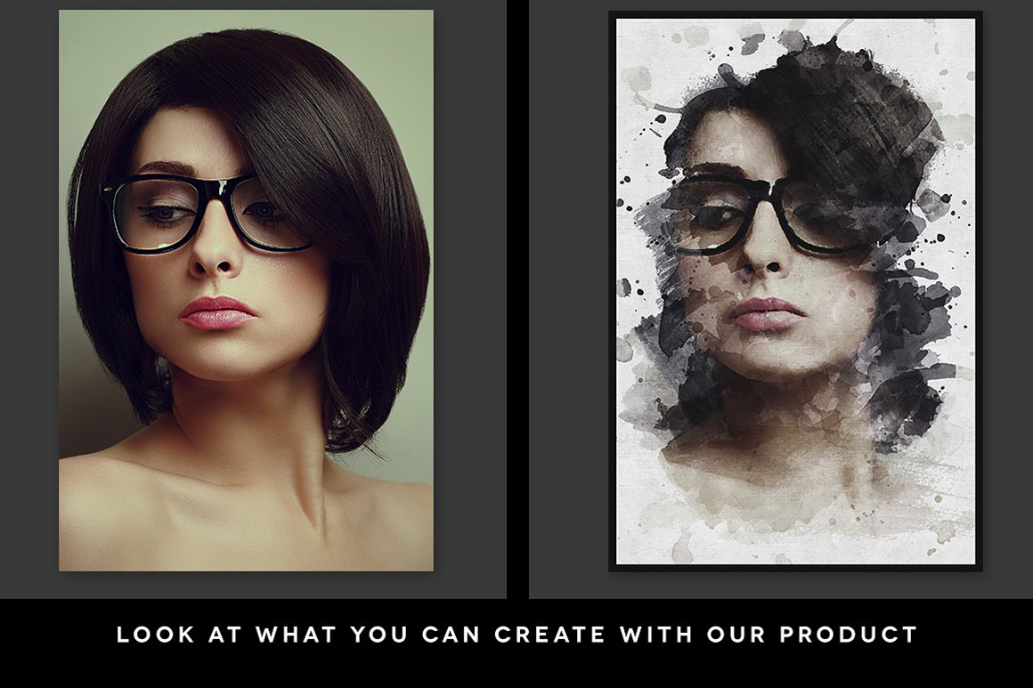 Ink Portrait Vol. 01 - Creative Photoshop Template