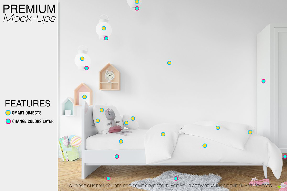 Kids Bedding, Frames And Wall Set