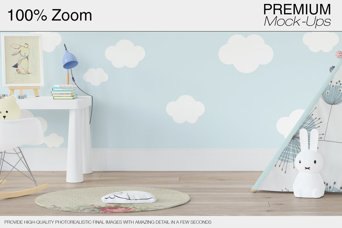 Kids Room - Wall Frames And Wigwam Set