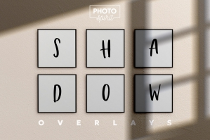 Organic Shadow Photo Overlays