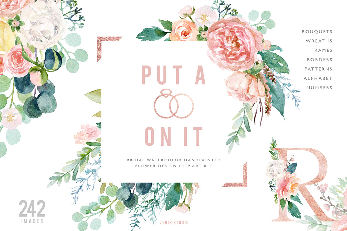 Put A Ring On It - Watercolor Design Set