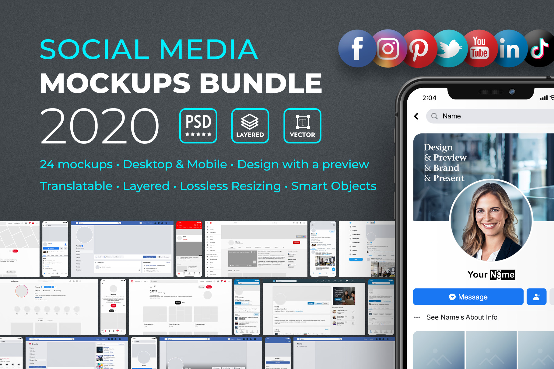 Social Media Mockups Collection 2020