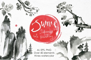 Sumi-e - Japanese Ink Painting