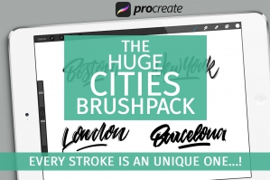 The-Huge-Cities-Brushpack-for-Procreate-cover