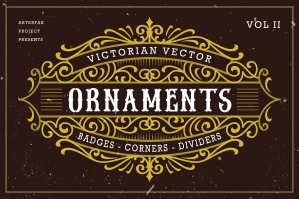 Victorian Vector Ornaments Vol. II