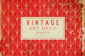 Vintage-Art Deco-Digital-Papers-cover