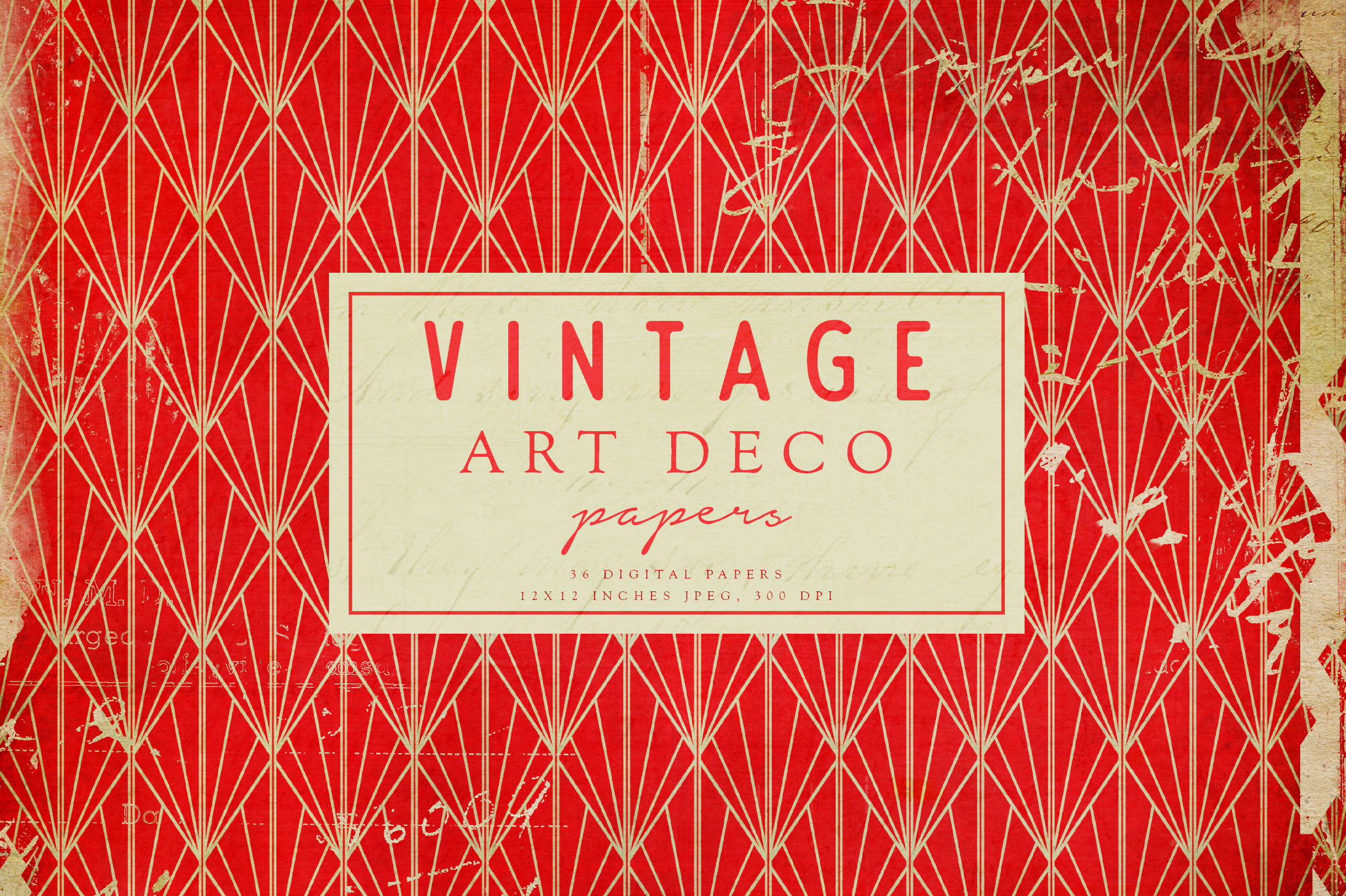 Vintage Art Deco Digital Papers