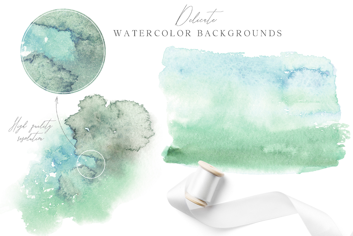 Virgin Olive - Watercolor Graphic Design Kit