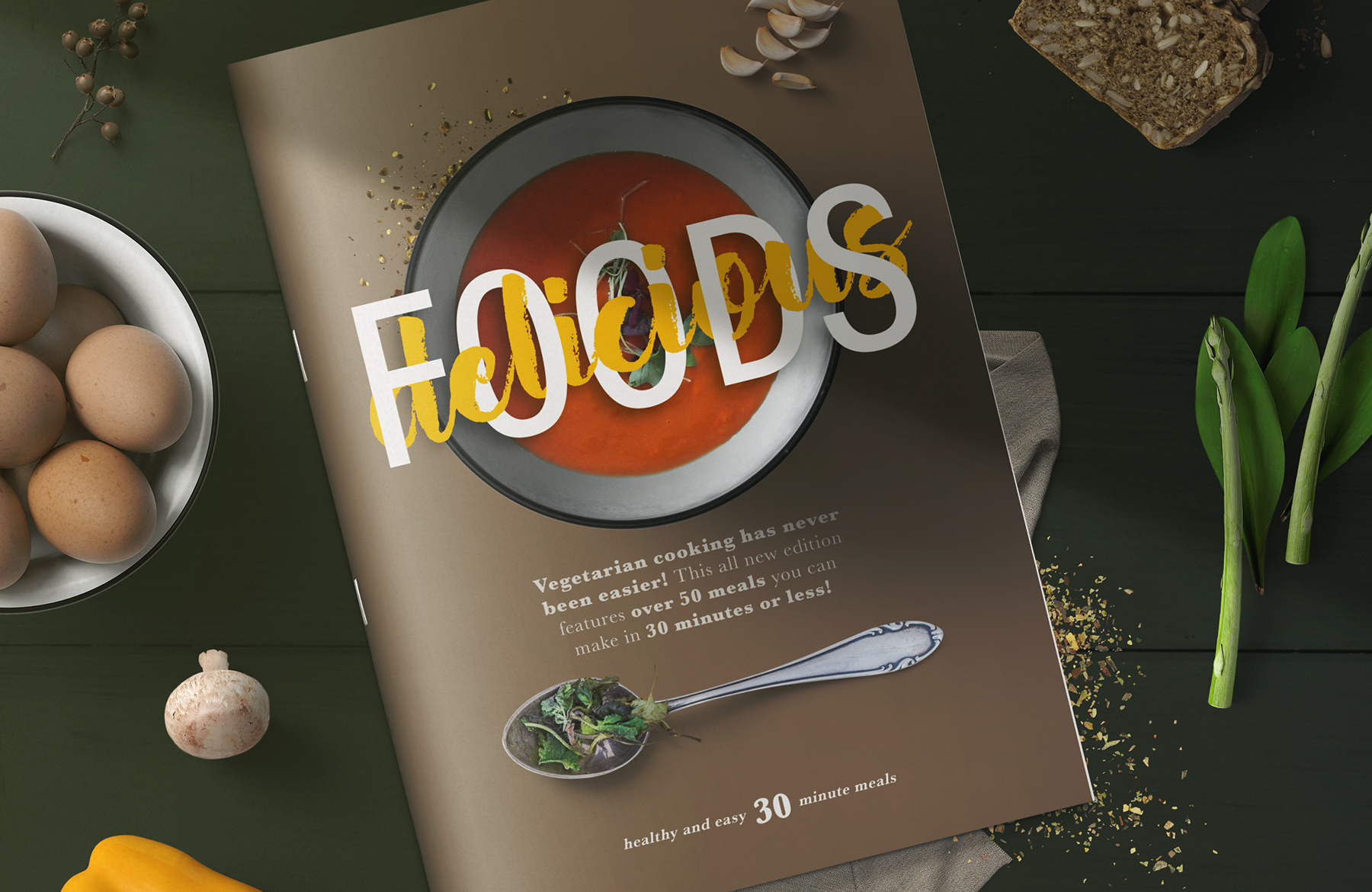 Learn How To Design A Healthy Magazine Cover Mockup In Photoshop