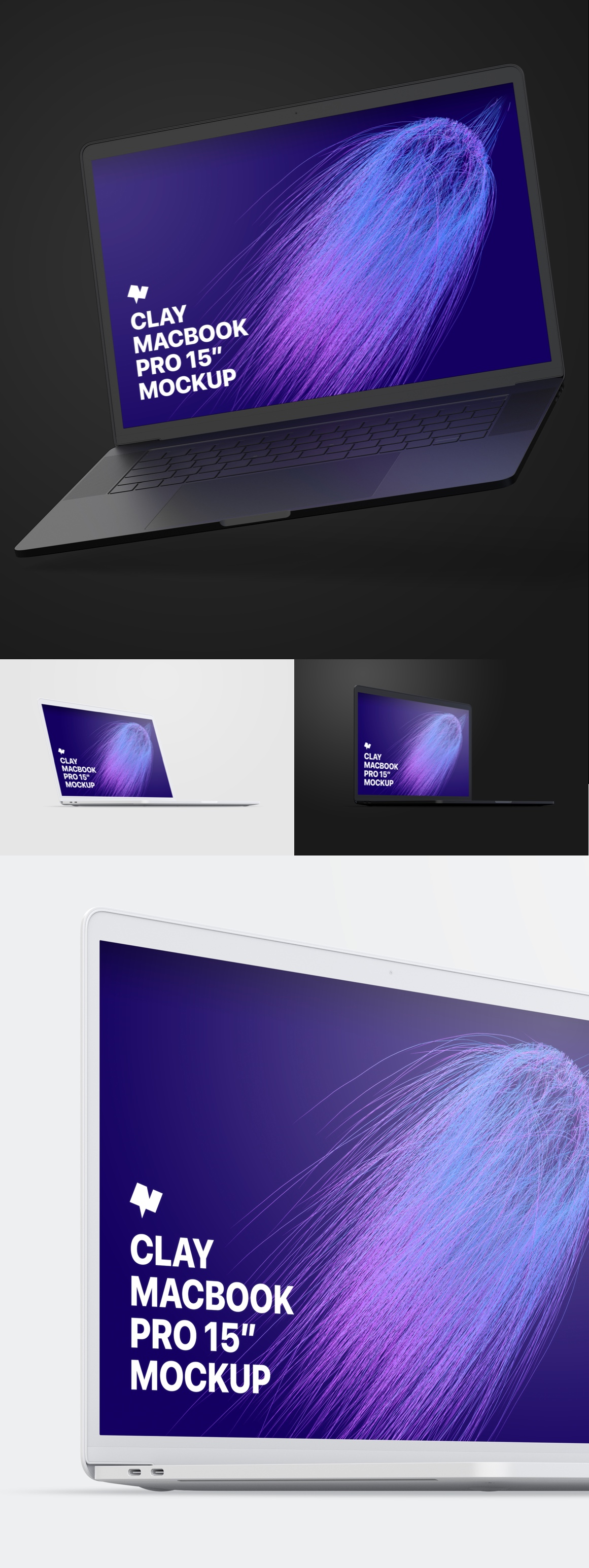 iPhone X And Clay MacBook Pro Mockups Pack