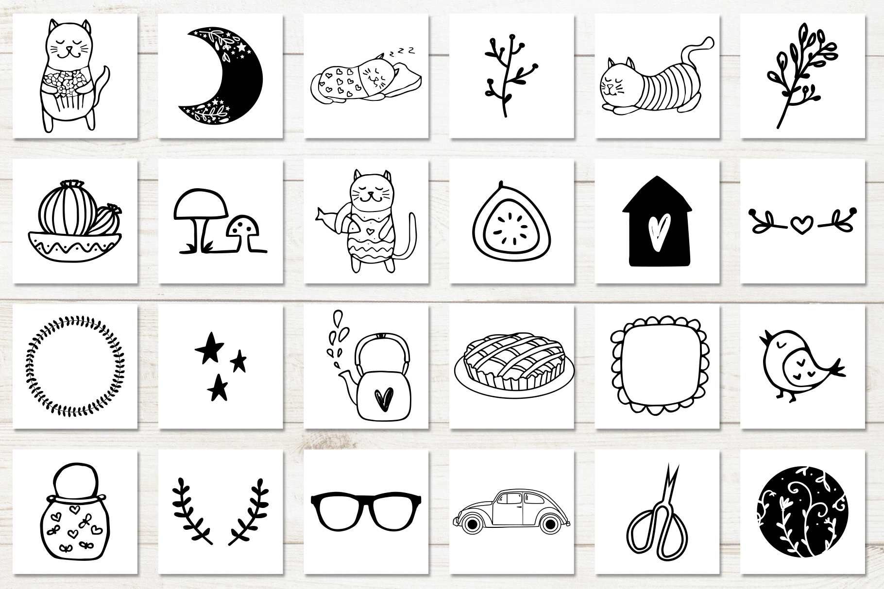 100 Hand Drawn Elements For Logo And Branding