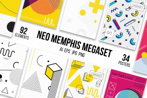 126-Posters-And-Elements-Memphis-Set-cover