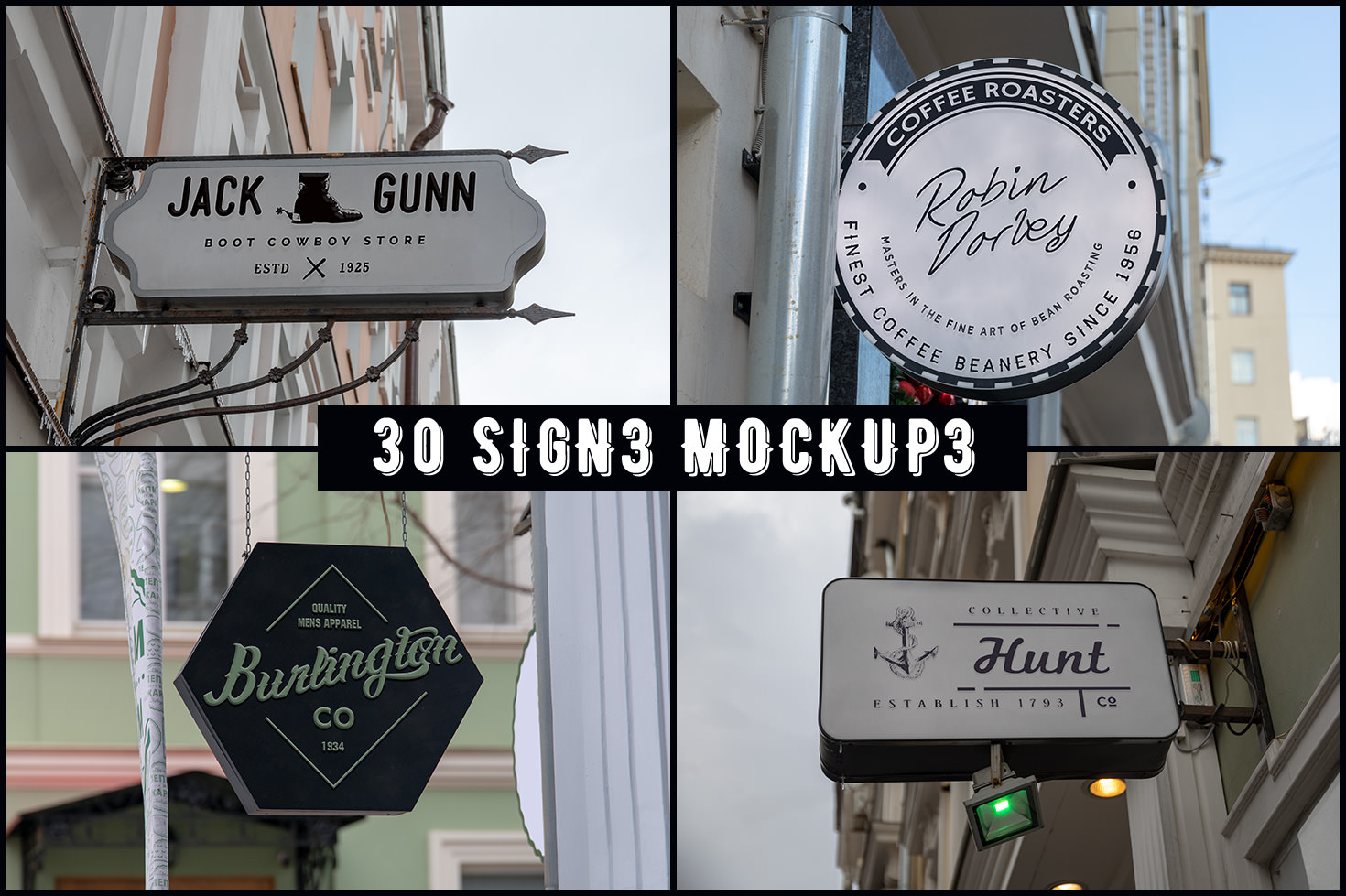60 Signs, Facades And Frames Mockups