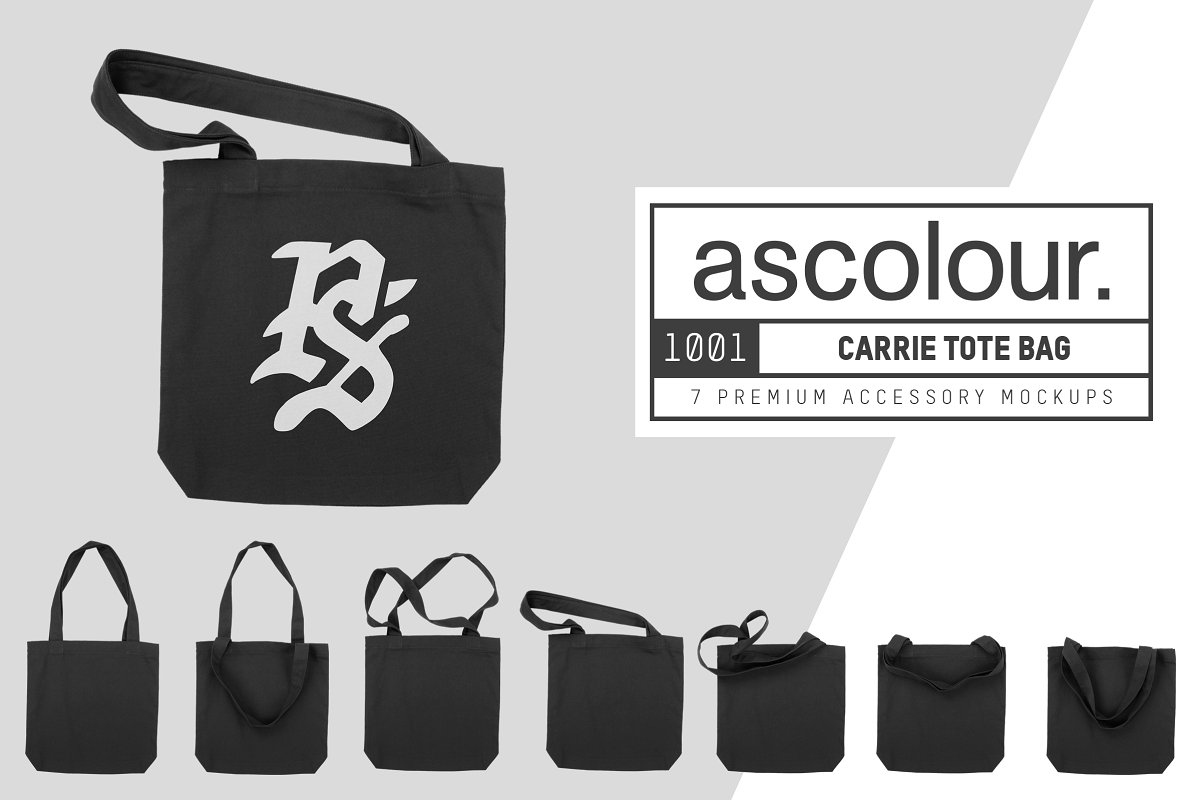 AS Colour 1001 Carrie Tote Bag Mocks