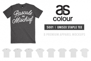 AS Colour 5001 Staple Tee Mockups