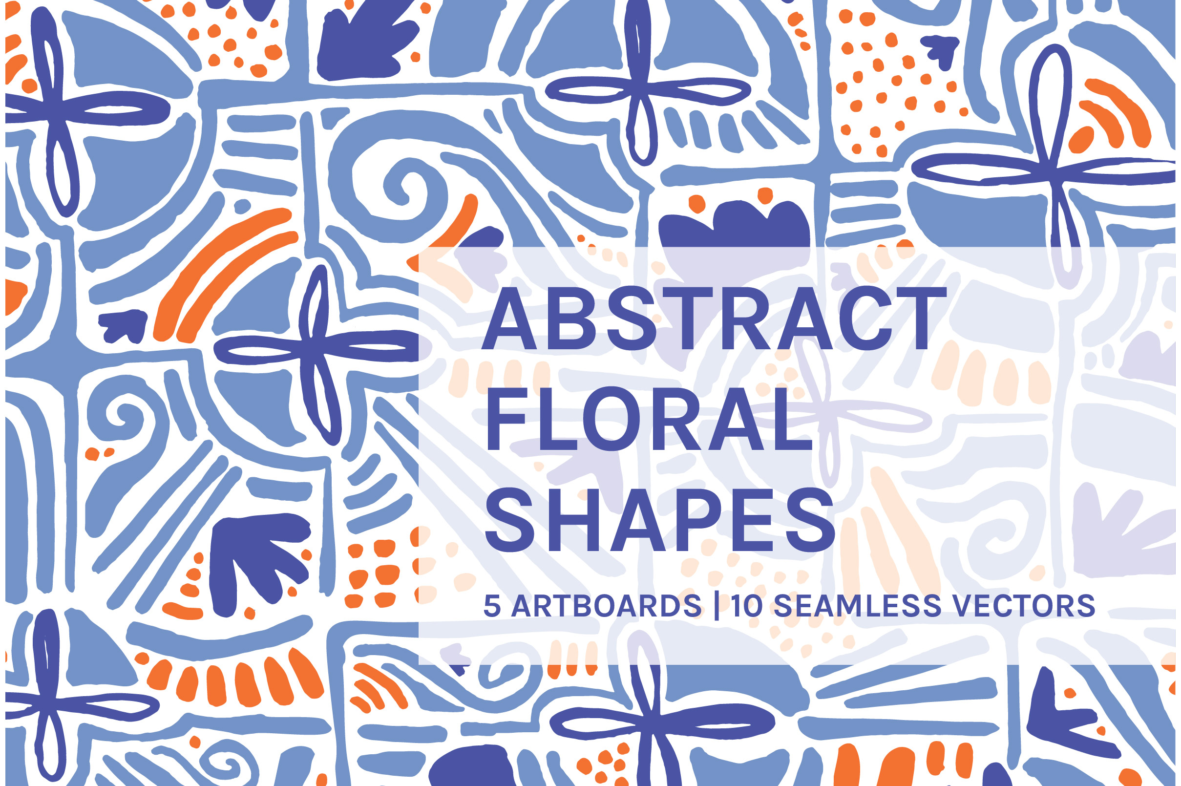 Abstract Floral Shapes Art Boards And Patterns