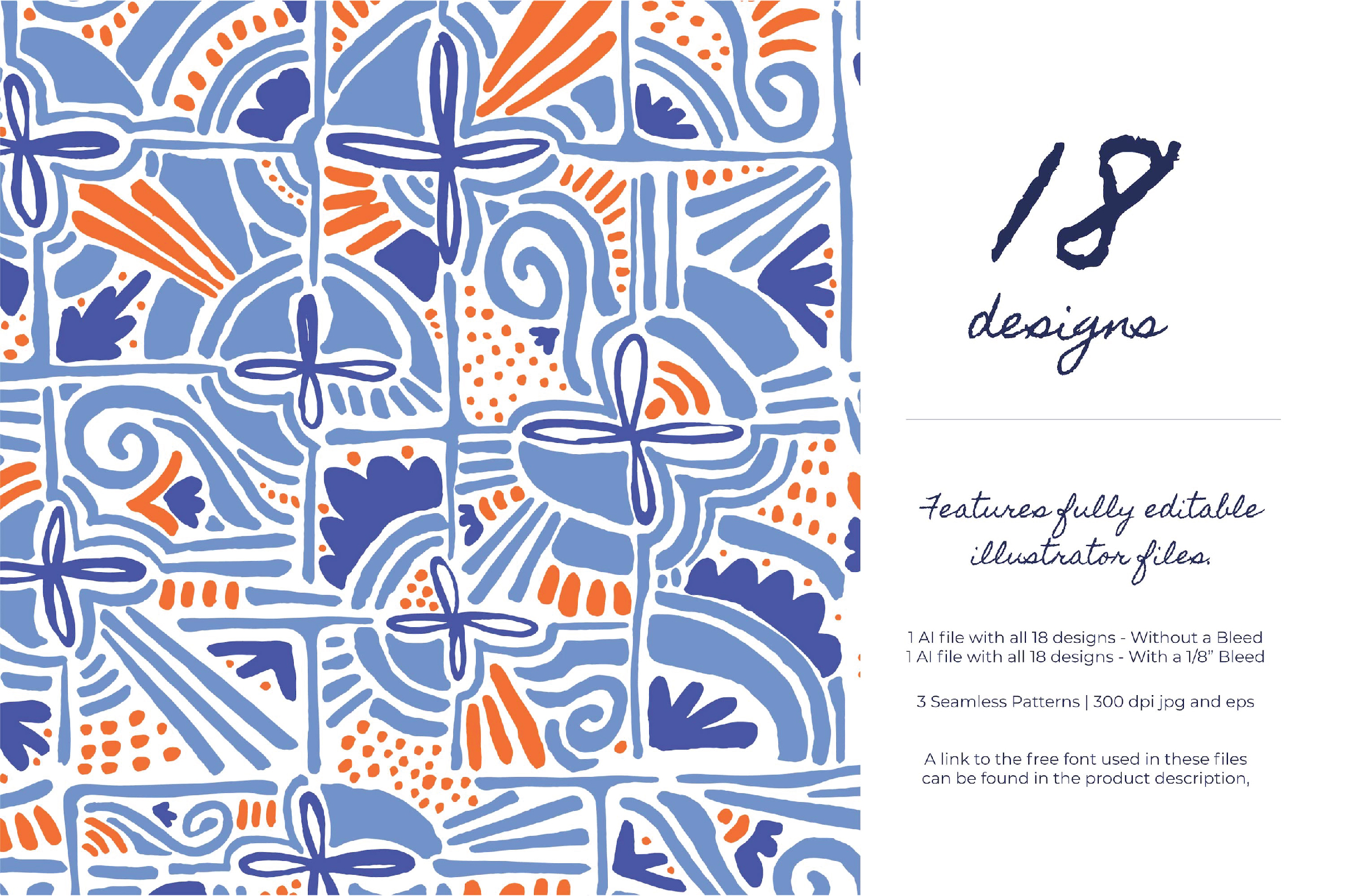 Abstract Floral Shapes Wedding Suite