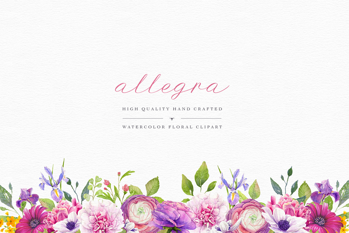 Allegra Watercolor Clipart Collection