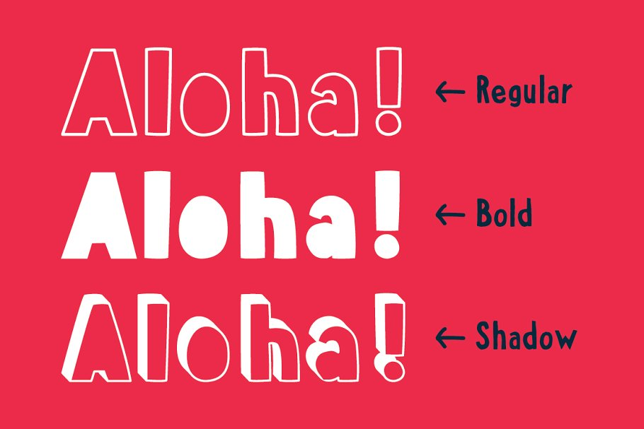 Aloha From Deer - Summer Font Family