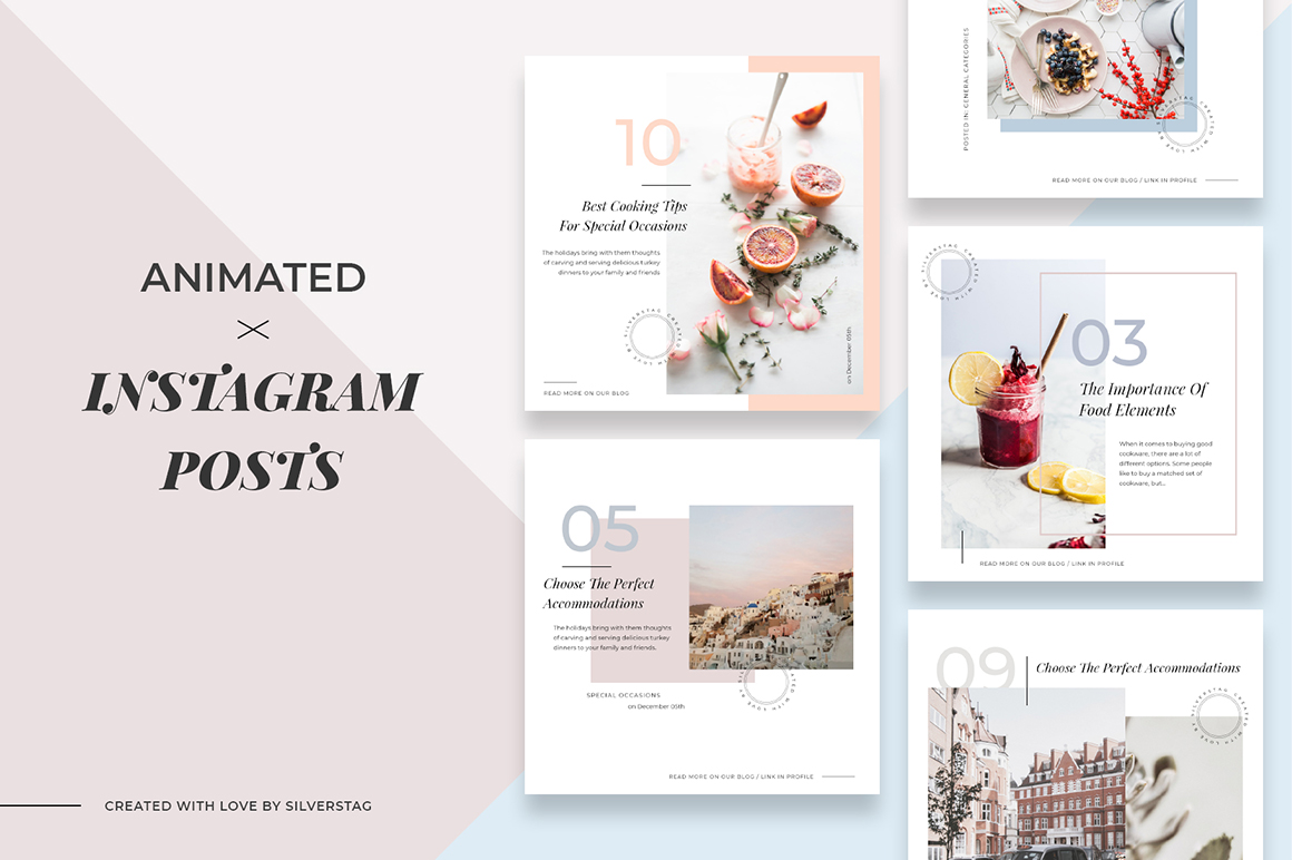 Animated Modern & Clean Instagram Post Templates