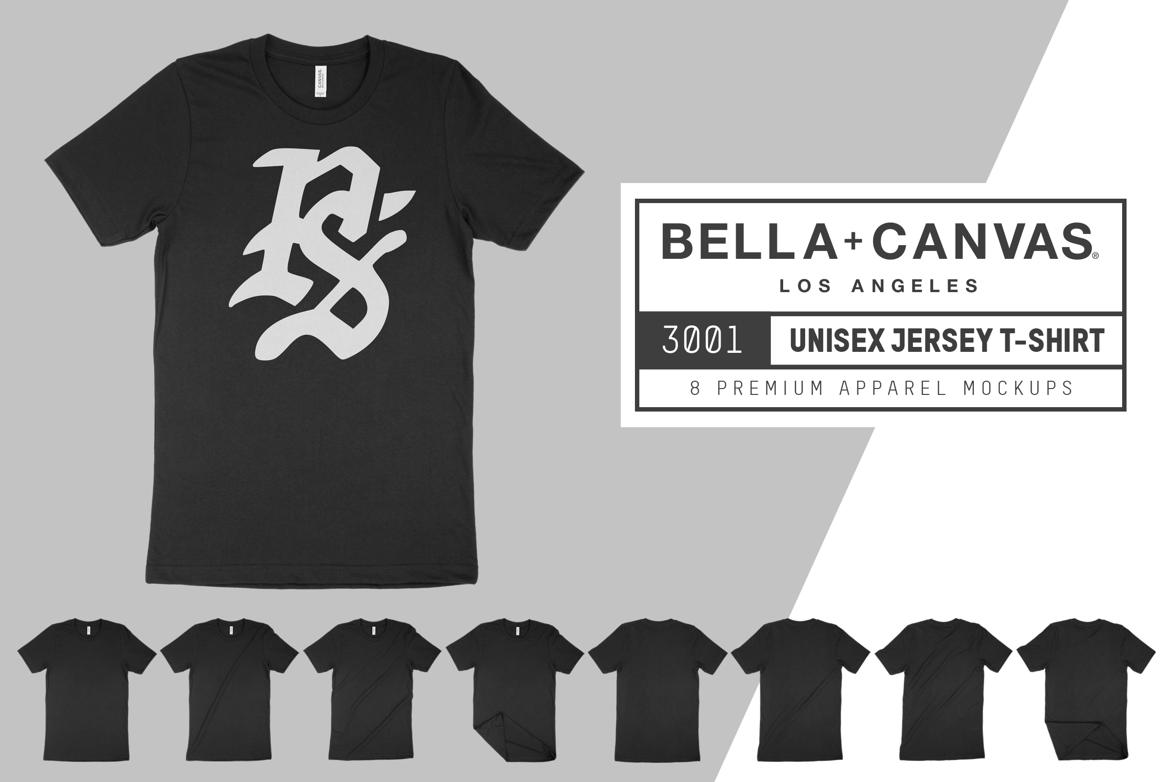 free bella canvas 3001 t shirt mockups