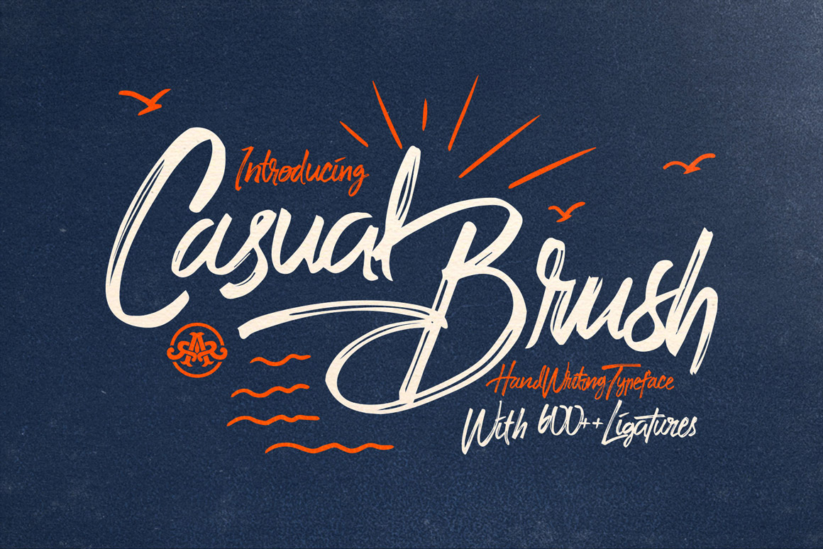 Casual brush font | paint marker font