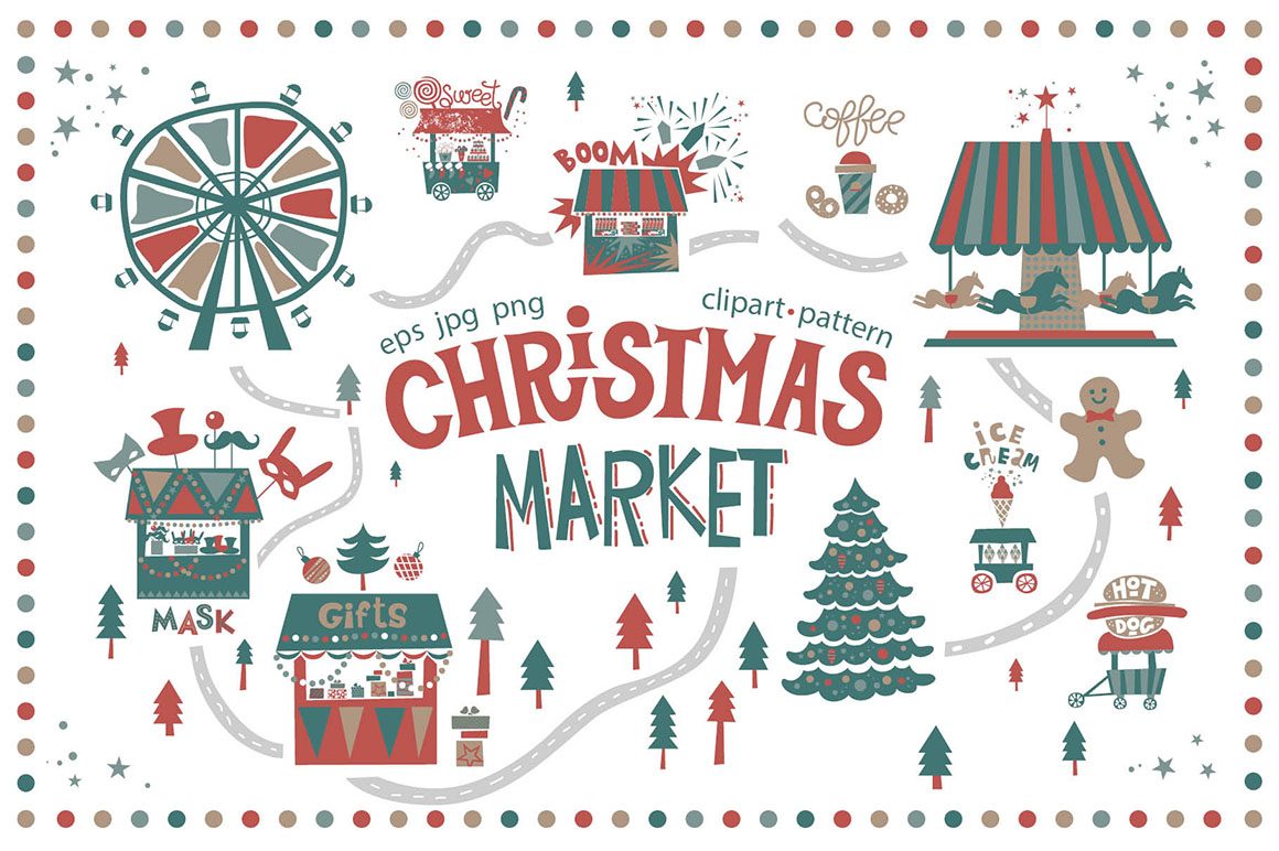 Christmas Market - Graphic Set