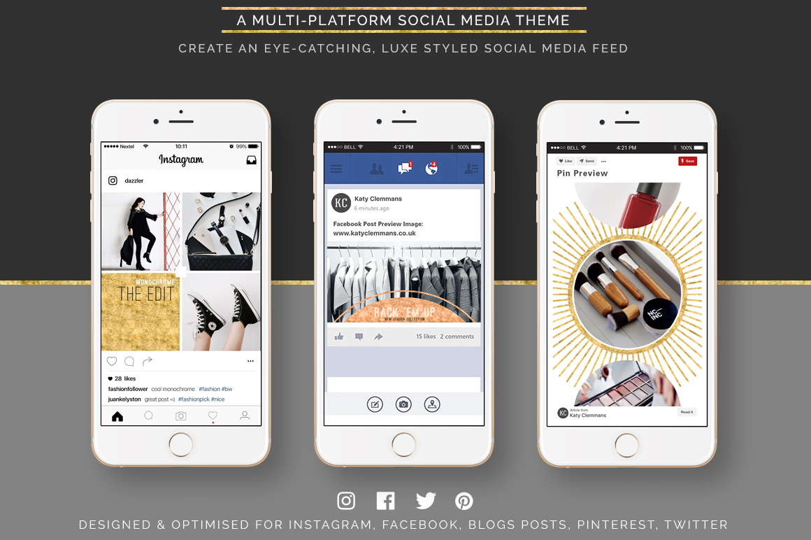 Dazzle Social Media Template Pack