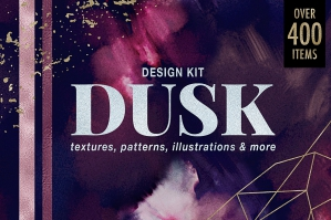 Dusk-Design-Kit-Texture-Patterns-Illustrations-CatJello-cover