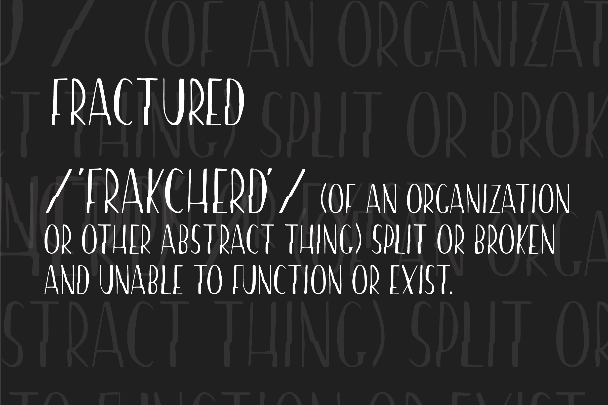 Fractured - A Hand-drawn Font