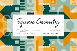 Geometric Square Pattern Set
