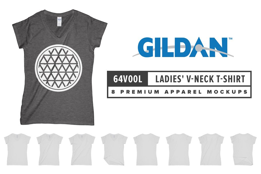 Gildan 64V00L Ladies' V-Neck T-Shirt