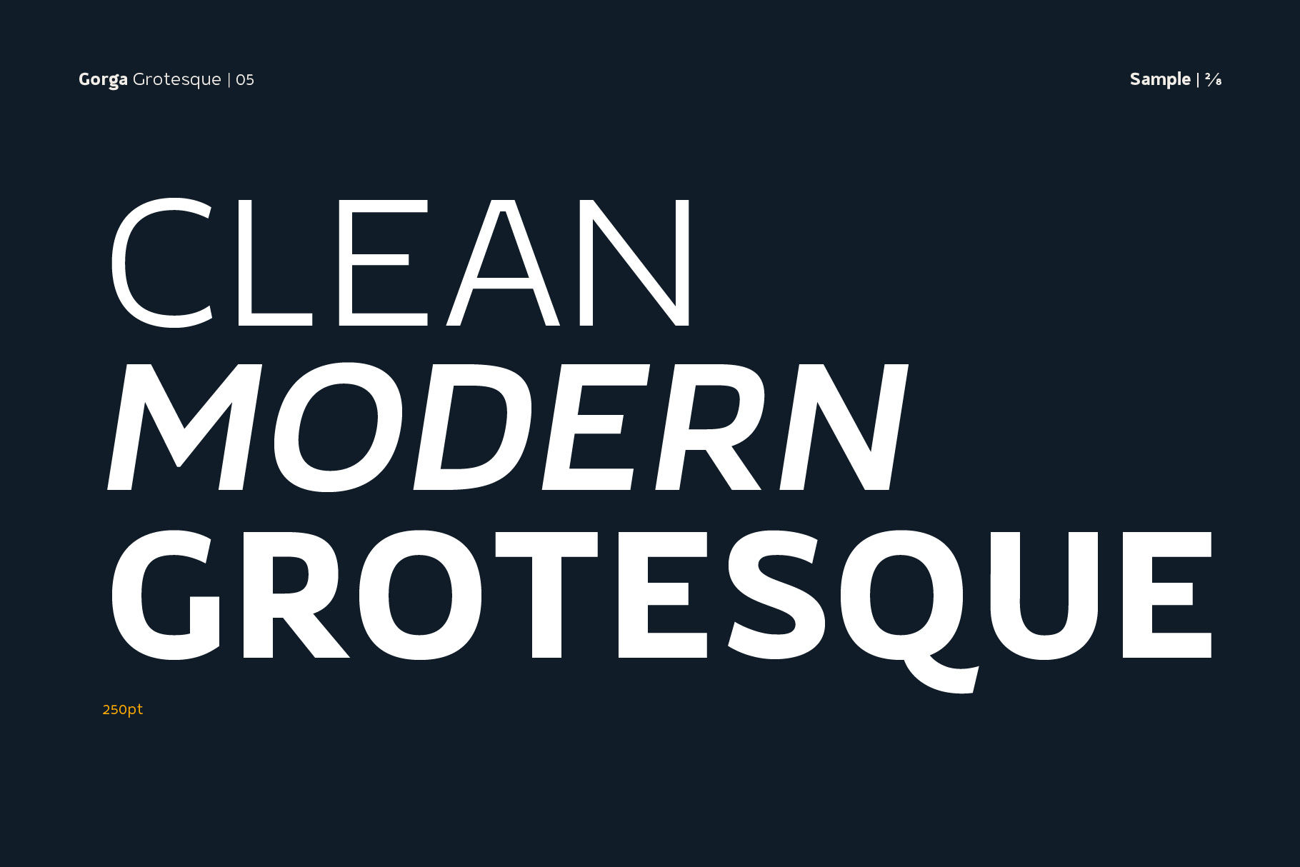 Gorga Grotesque Sans Serif Fonts