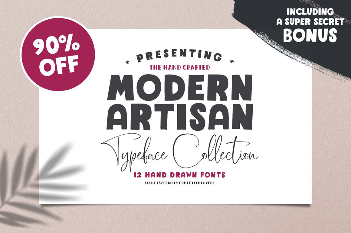 Gorgeous Modern Artisan Type Collection