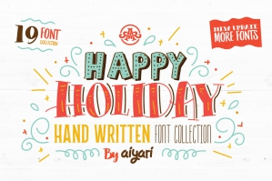 Happy-Holiday-Font-Collection-cover