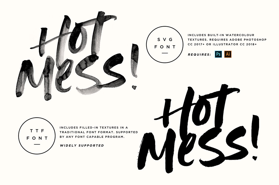 Hot Mess SVG Font