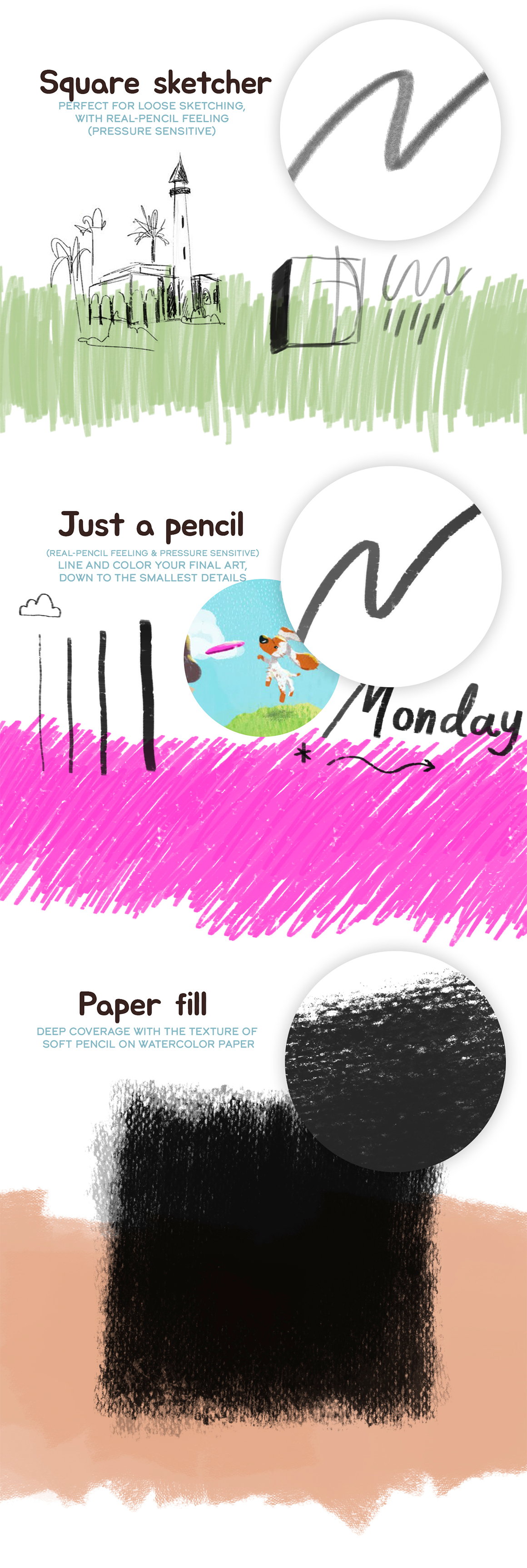 Laura's Real Pencil And Paper Photoshop Brushes