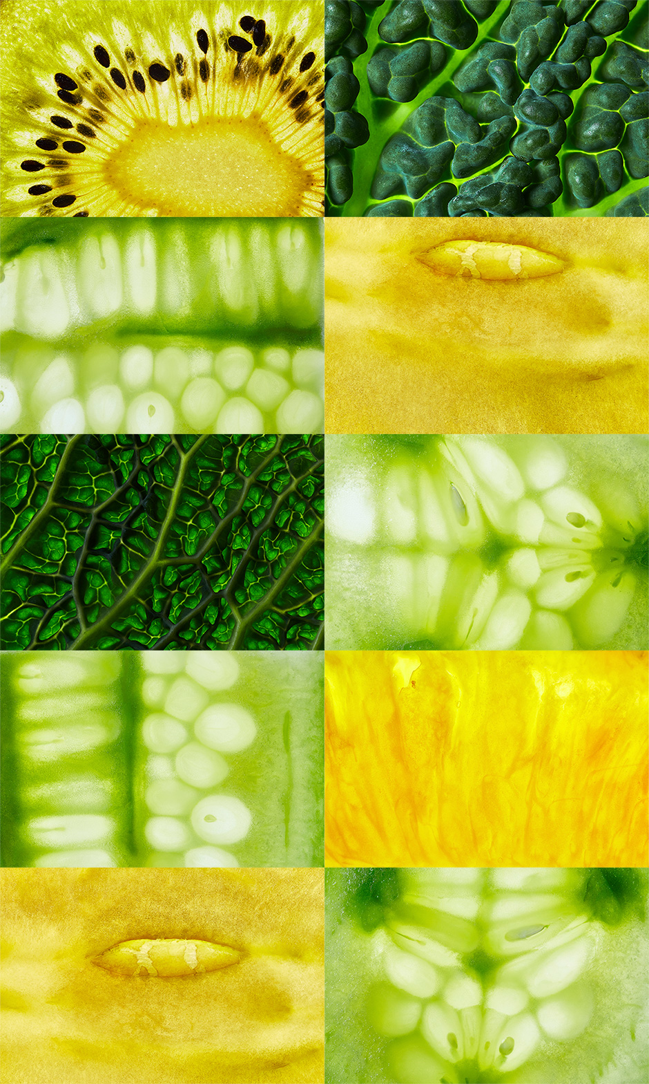 Macro Fruit And Vegetable Textures