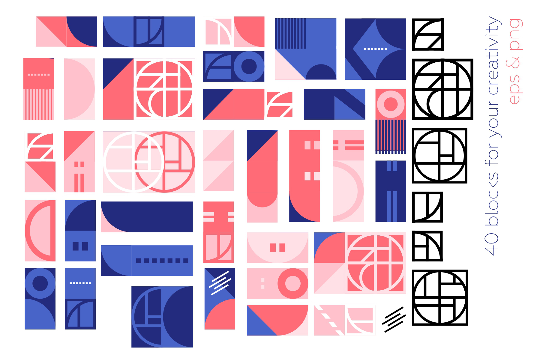 Modern Geometric Pattern Set